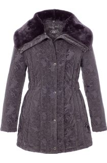 Flocked Padded Zip Coat
