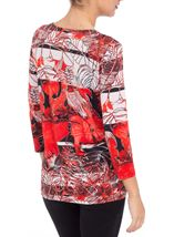 Anna Rose Bold Printed Round Neck Top
