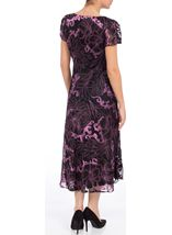 Anna Rose Fit And Flare Burn Out Dress