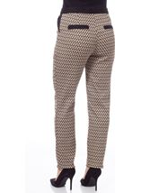 Jacquard Narrow Leg Trousers