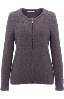 Anna Rose Bobble Knit Zip Cardigan