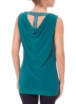 Diamante Trim Cowl Back Sleeveless Top