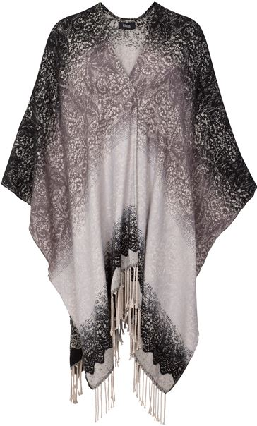 Lace Print Knitted Shawl