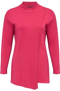 Wrap Over Turtle Neck Knit Top