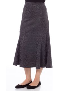 Fit and Flare Elasticated Waist Midi Skirt