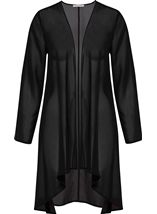 Anna Rose Long Line Chiffon Cover Up