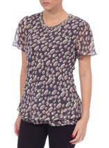 Anna Rose Bias Cut Spot Chiffon Top