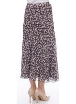 Anna Rose Bias Cut Spot Chiffon Skirt