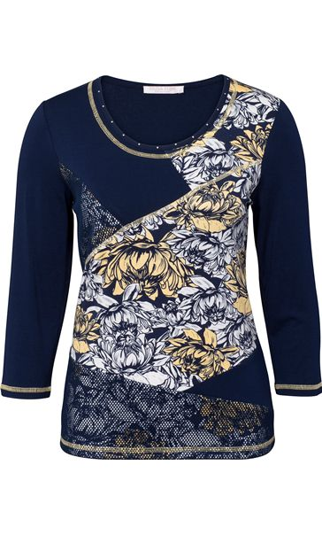 Anna Rose Floral Panelled Top