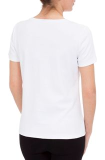 Anna Rose Short Sleeve Jersey Top - White