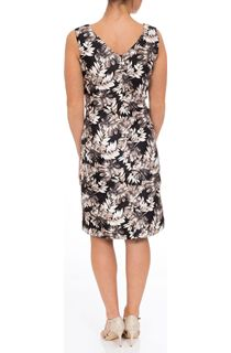 Anna Rose Fitted Sleeveless Printed Midi Dress