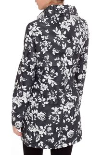 Printed Floral And Spot Parka