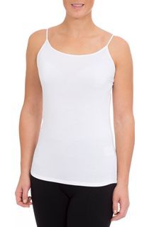 Strappy Jersey Camisole Top - White