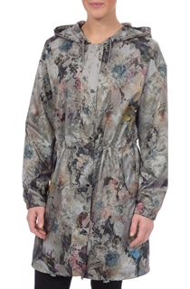 Floral Printed Lightweight Hooded Parka