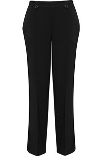 Anna Rose 29 Inch Straight Leg Trouser - Black