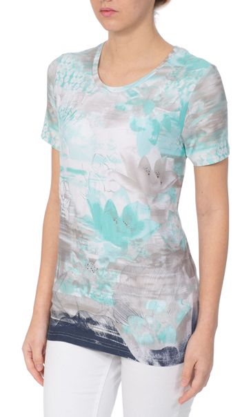 Anna Rose Watercolour Short Sleeve Jersey Top