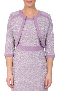 Anna Rose Jacquard Fitted Jacket - Lilac