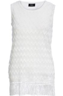 Sleeveless Lace Top - White