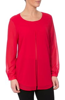 Double Layer Pleated Chiffon Top