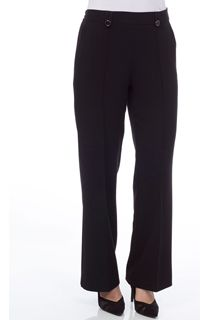 Anna Rose 27 Inch Straight Leg Trouser - Black