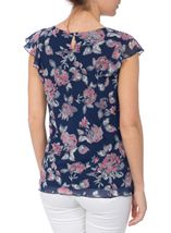 Anna Rose Bias Cut Floral Georgette Top