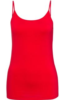 Strappy Jersey Camisole Top - Strawberry