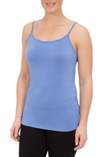 Strappy Jersey Camisole Top - Light Blue
