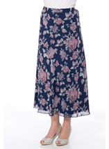 Anna Rose Bias Cut Floral Georgette Skirt