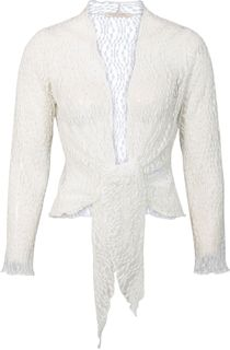 Anna Rose Sparkle Knit Tie Cover Up - White