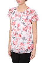 Anna Rose Bias Cut Chiffon Top