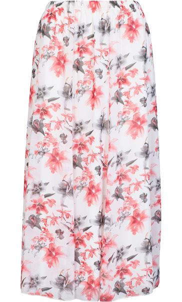 Anna Rose Panelled Floral Printed Chiffon Skirt