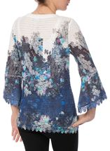 Floral Bell Sleeve Knitted Top
