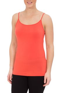 Strappy Jersey Camisole Top - Coral