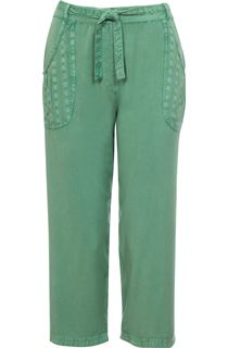 Anna Rose Cropped Wide leg Trousers - Green