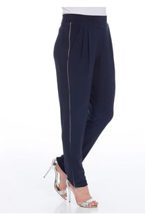 Pull On Tapered Leg Stretch Trousers