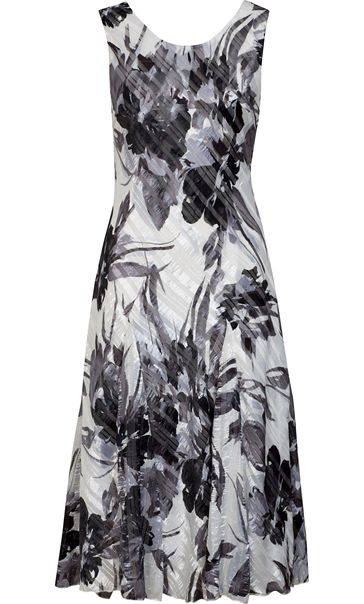 Anna Rose Bias Cut Floral Sleeveless Dress