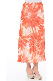 Anna Rose Bias Cut Floral Chiffon Skirt
