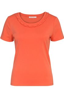 Anna Rose Short Sleeve Jersey Top - Orange