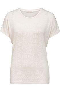 Anna Rose Textured Print Short Sleeve Top
