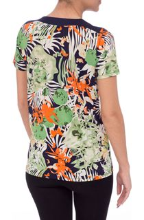 Anna Rose Garden Print Short Sleeve Top