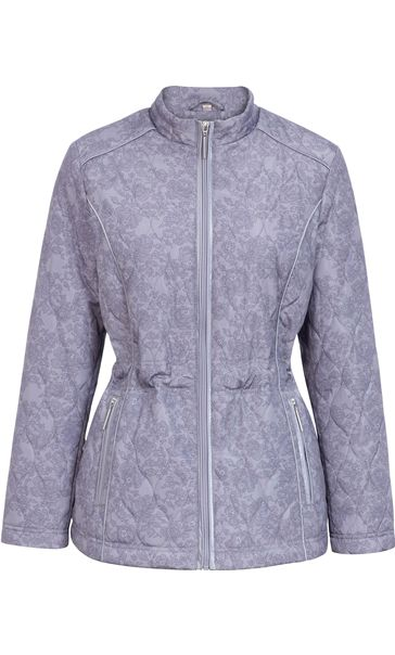 Anna Rose Lace Print Padded Jacket