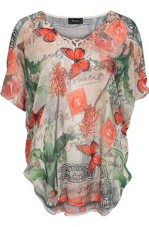 Butterfly Georgette Embellished Top