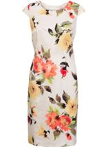 Anna Rose Fitted Shantung Floral Midi Dress
