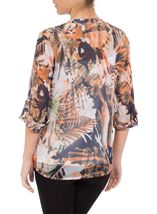 Anna Rose Printed Turn Sleeve Blouse