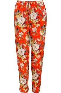 Bouquet Printed Elasticated Waist Trousers