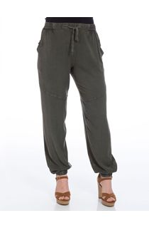 Elasticated Waist Lightweight Trousers - Green