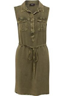 Sleeveless Washed Tunic - Green