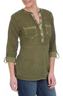 Turn Sleeve Washed Cotton Top