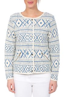 Unlined Long Sleeve Patterned Jacket