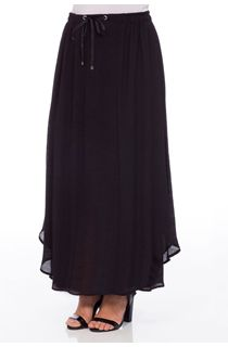 Crinkle Elasticated Waist Maxi Skirt